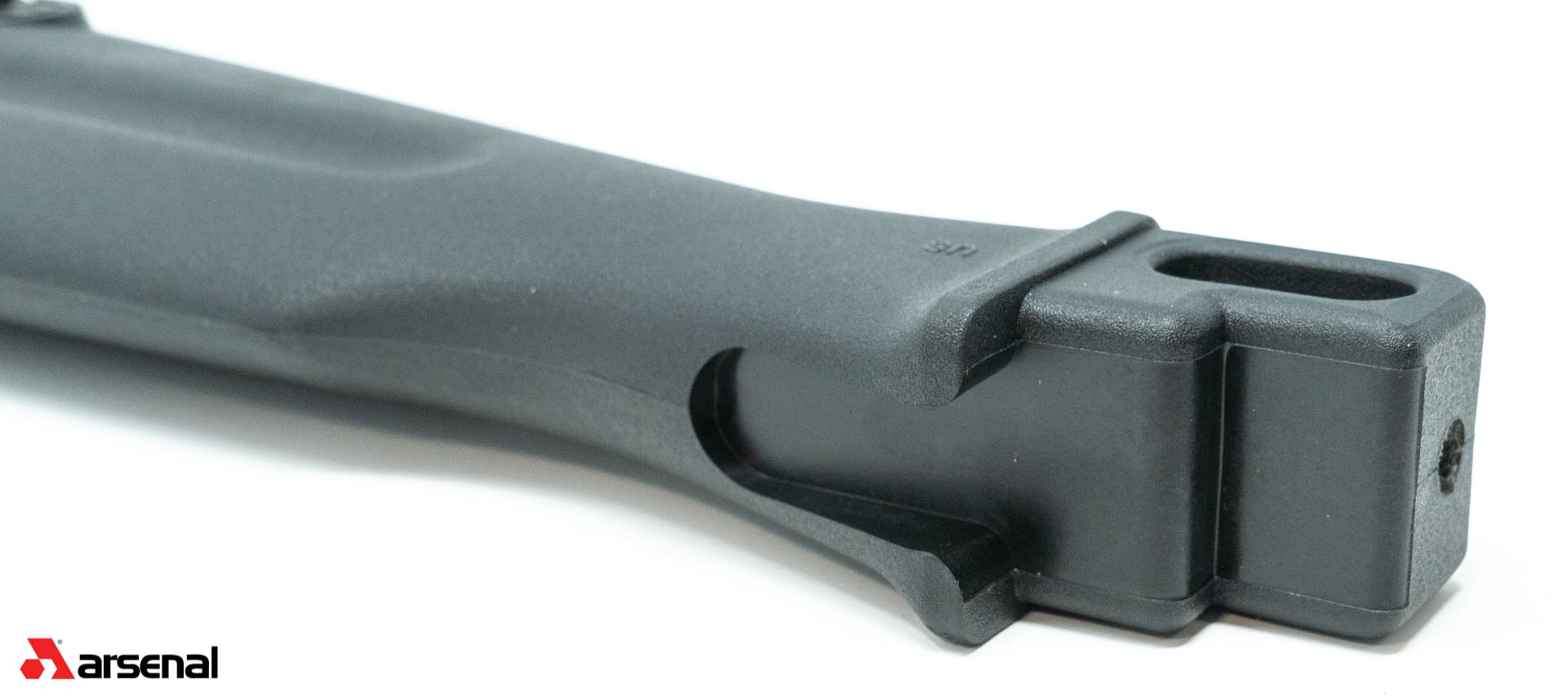 US Made Black Polymer Buttstock Assembly for Stamped Receiver Rifles