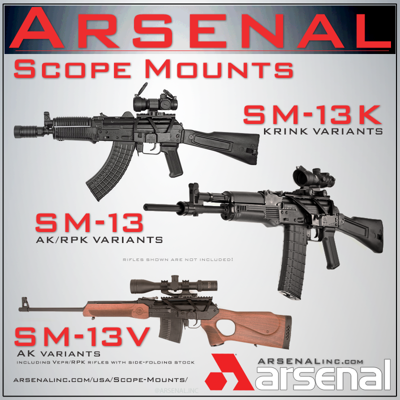 Arsenal, Inc  > Arsenal SM-13 Scope Mounts for all AK Variants