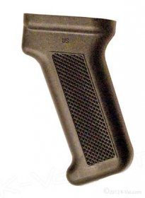 Pistol Grip AK-47 Milled and Stamped Receivers Metal Insert Reinforced Polymer Matte Black