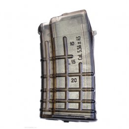 5.56x45mm/.223Rem Caliber 20 Round Magazine Circle 10 Clear Waffle Pattern