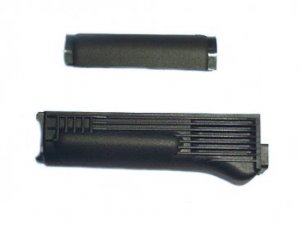 Handguard Set for Stamped Receiver, with Steel Heat Shield, Black Polymer, Arsenal