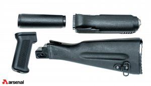 Blk Set WARSW US length buttstock, Arsenal Inc