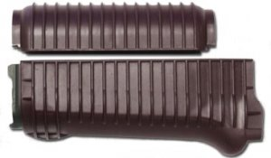 US Made Plum Color Ribbed Krinkov Handguard Set
