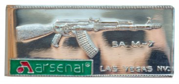 Arsenal Money Clip with Arsenal Logo. Solid .925 Pure Silver
