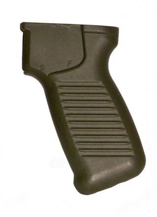OD Green Pistol Grip SAM7SF thicker Ergonomic Design with Cut-out for Ambidextrous Safety Lever, OD green, US made
