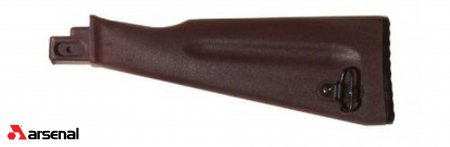 NATO Length Plum Polymer Buttstock Assembly for Stamped Receivers