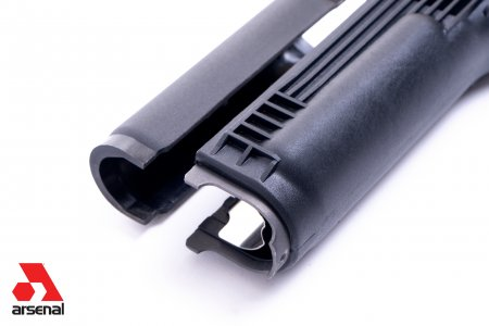 Black Polymer Handguard Set with Stainless Steel Heat Shield for Milled Receiver