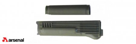 OD Green Polymer Handguard Set with Stainless Steel Heat Shield for Stamped Receivers