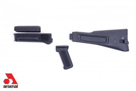 Black Polymer Warsaw Length Folder Handguard Set for Stamped Receivers