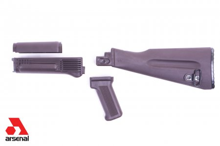 4-Piece Mil-Spec Warsaw Length Plum Polymer Buttstock Set for Stamped Receivers