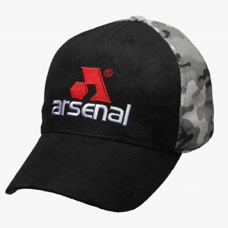 Black / Camo Split Logo Cap