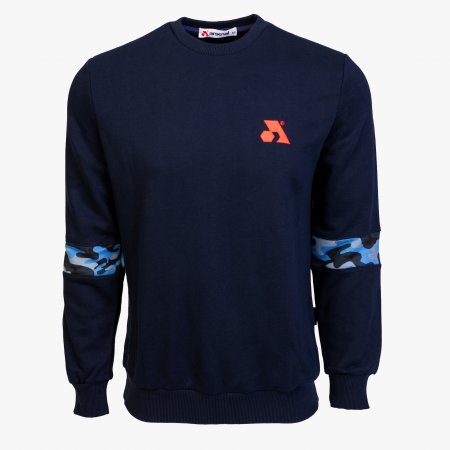 Blue Cotton-Poly Standard Fit Flex Pullover Sweater