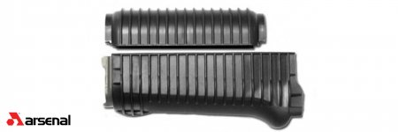 Black Ribbed Krinkov Handguard Set for Stamped Receivers