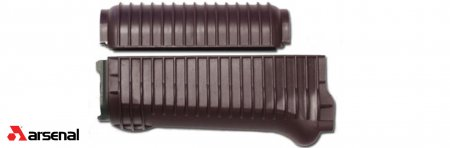 Plum Ribbed Krinkov Handguard Set with Stainless Steel Heat Shield