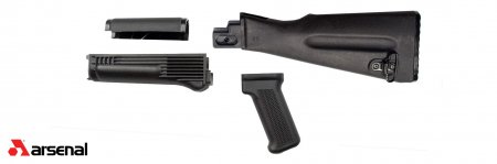 4 Piece NATO Length Black Polymer Stock Set