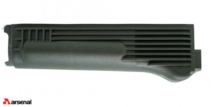 Lower Handguard, for Stamped Receiver, Polymer, OD Green, Stainless Steel Heat Shield, US, Arsenal