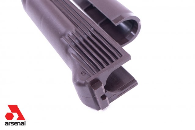 Plum Polymer Handguard Set for Milled Receiver with Stainless Steel Heat Shield