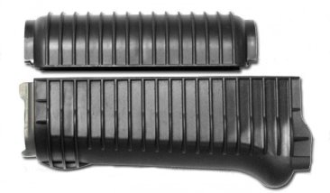 US Made Black Color Ribbed Krinkov Handguard Set for Stamped Receivers