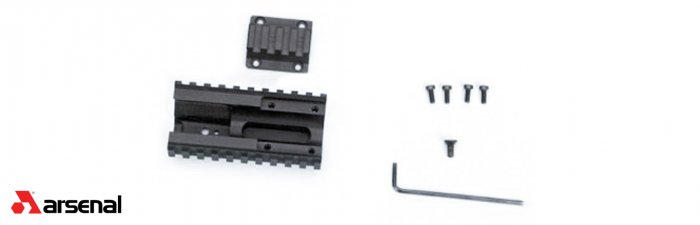 Quad Rail Sagia12 w/Hand guard & Retainer for Saiga S12 Shotgun