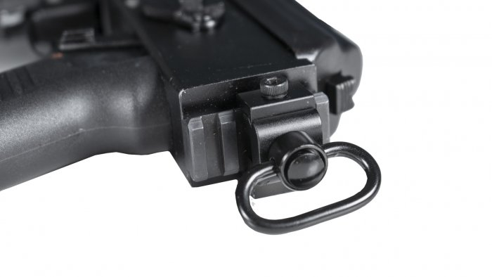 SAM7K Pistol Threaded Front Sight Block Rear Picatinny Rail - Quad Rail